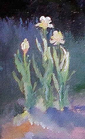 Девушка в саду. Деталь 2.