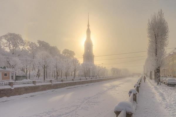 Зимой в Санкт-Петербурге